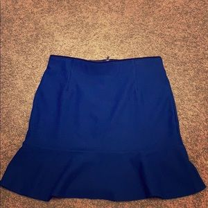Pencil skirt with peplum hem